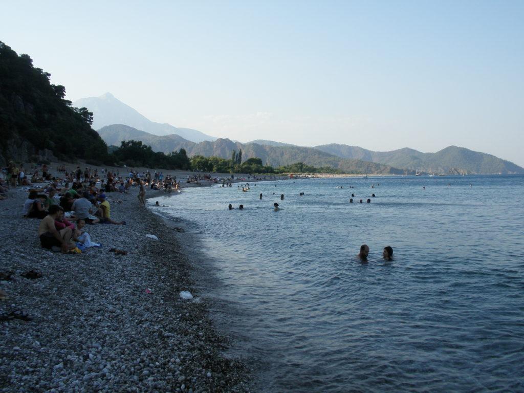 olimpos plajı オリンポスのビーチ