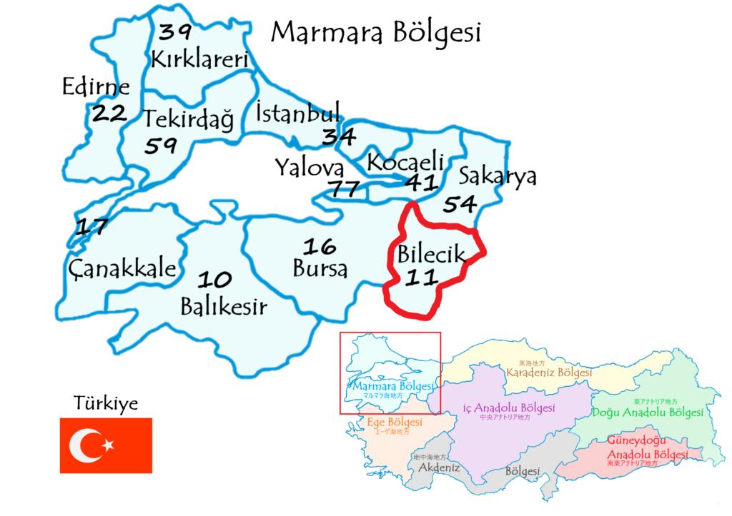 ビレジッキ県の地図