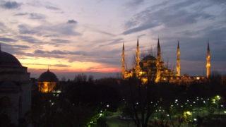 ブルーモスクの夕焼け