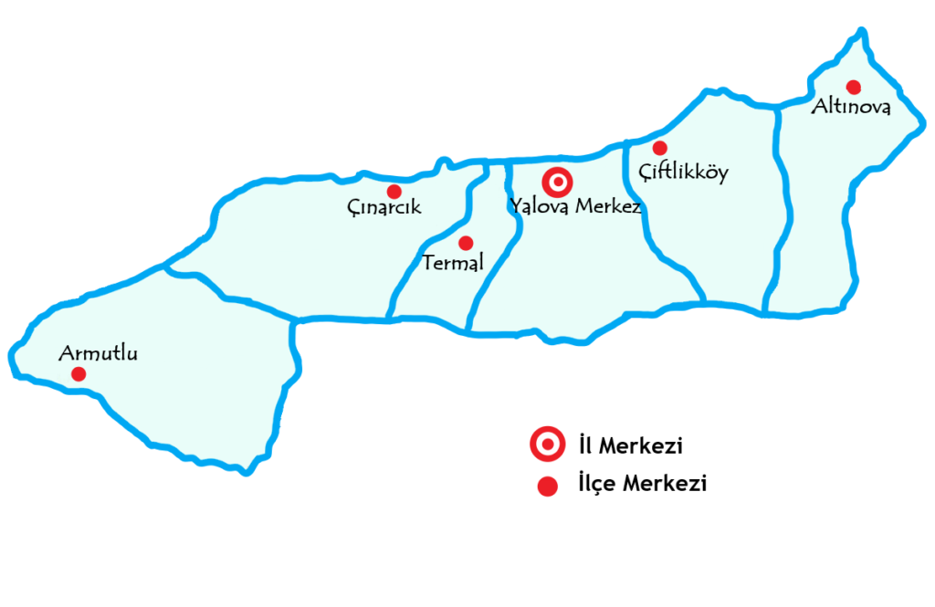 ヤロヴア県の都市