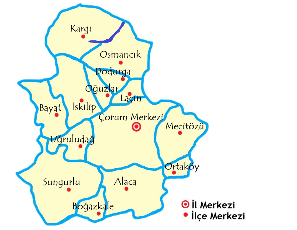 チョルム県の地図