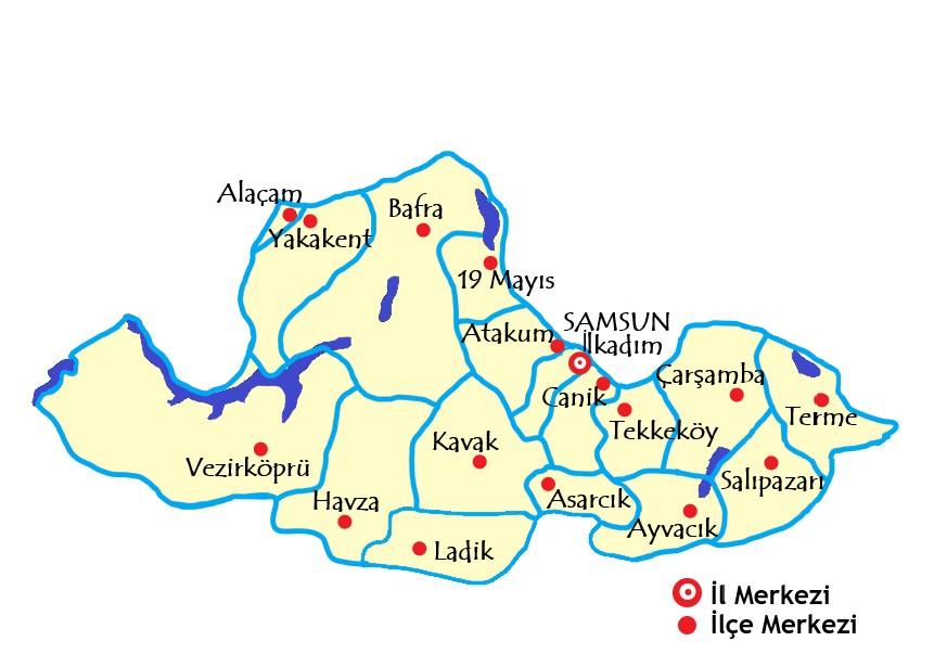 サムスン県の場所