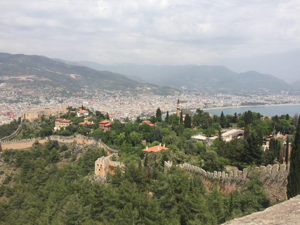 アランヤ城からの風景