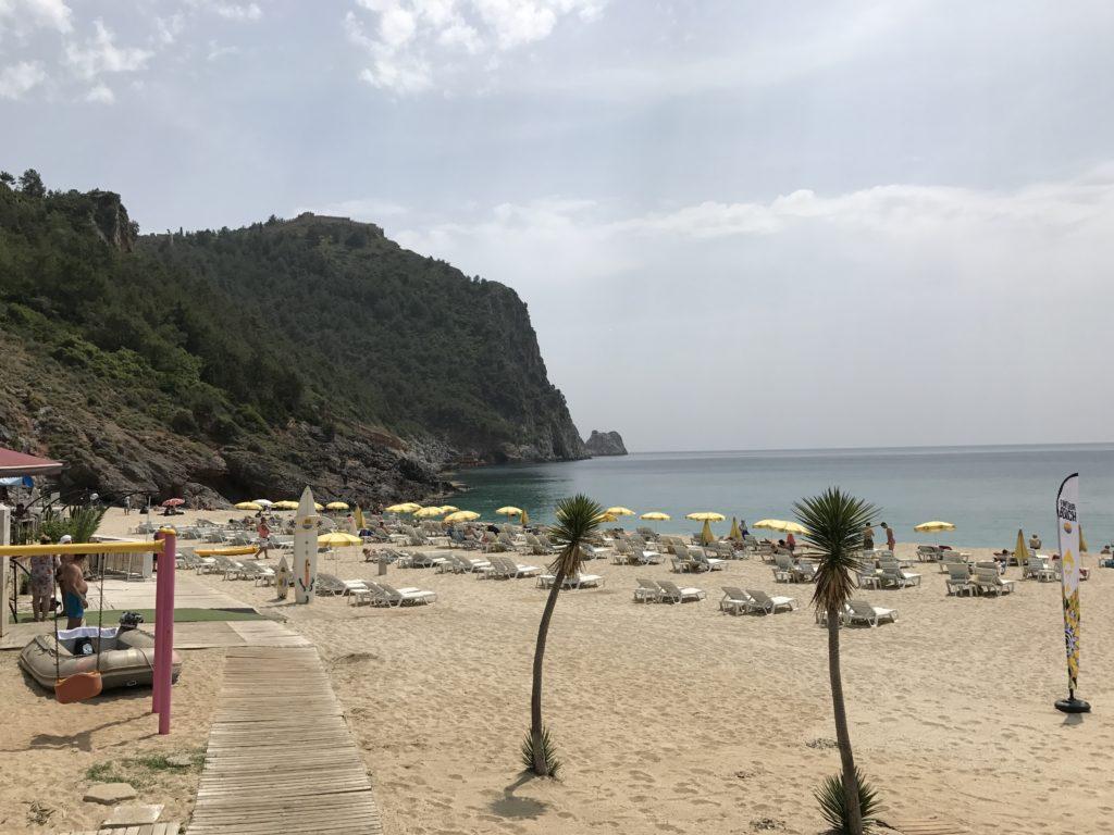 アランヤのビーチ