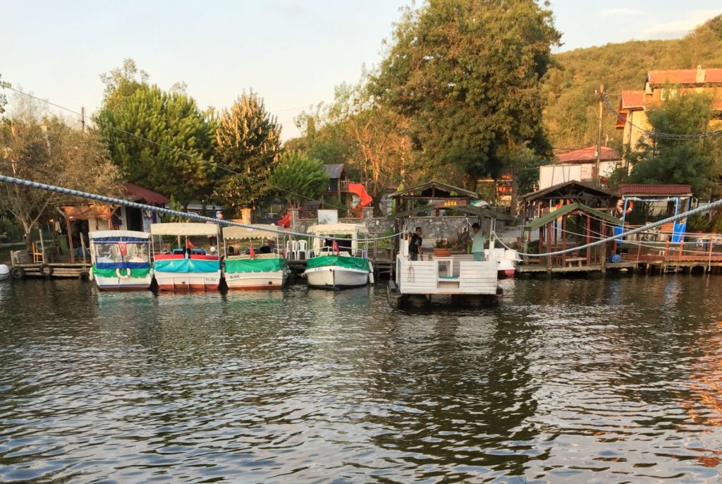 Ağva 川渡の船