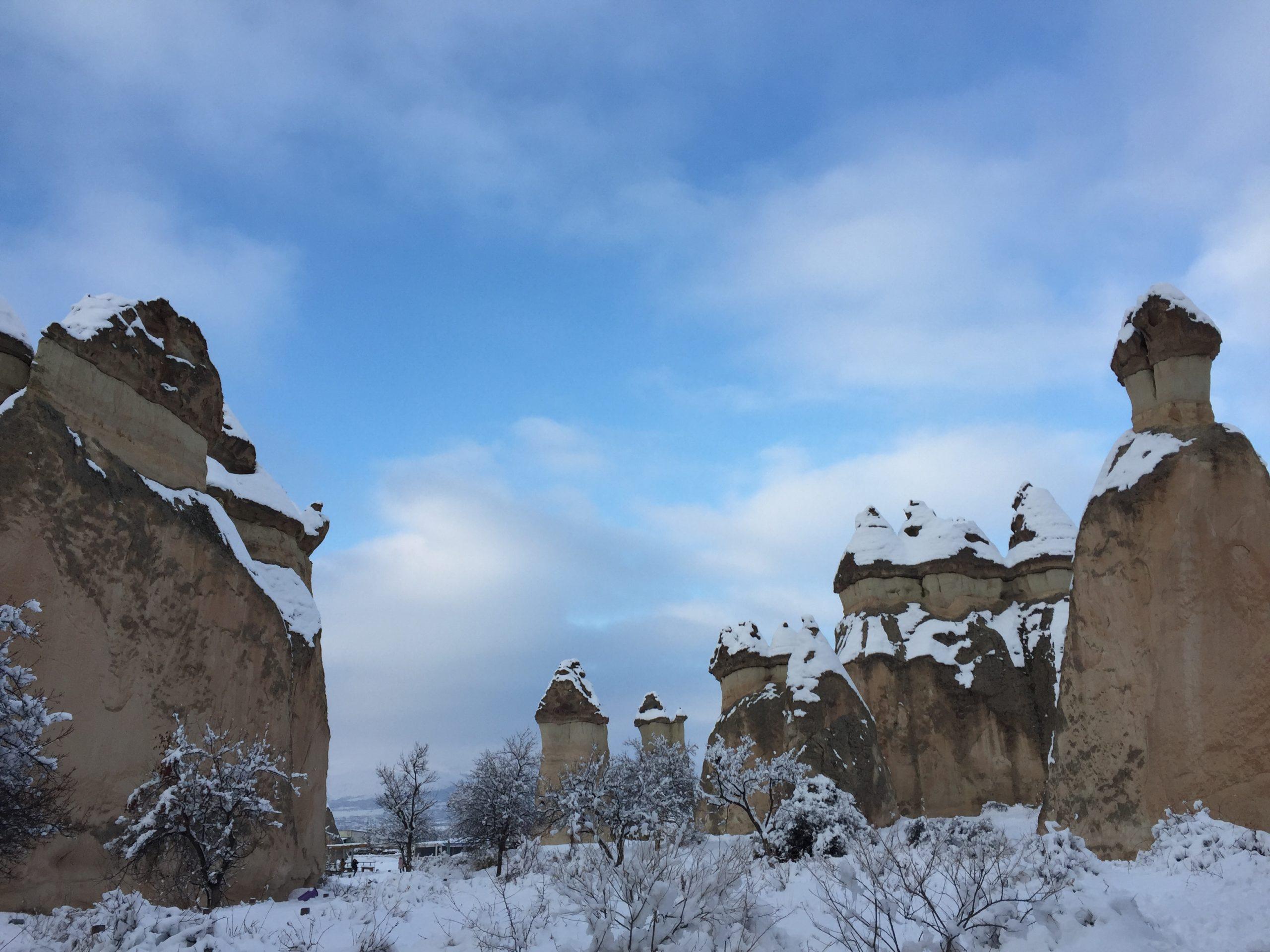 カッパドキアの雪景色